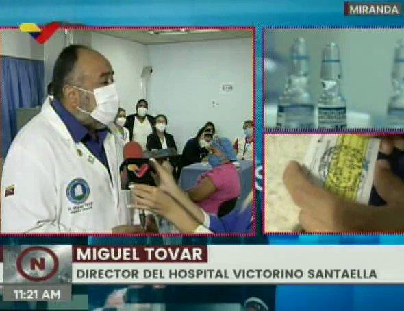 Resultado de imagen para Dr Miguel Tovar director del hospital santaella