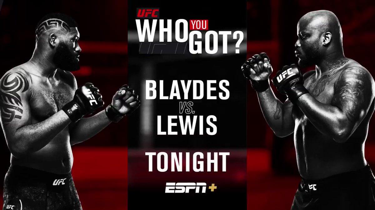 Who u got: @RazorBlaydes265  or @Thebeast_ufc?   #UFCVegas19 is LIVE TONIGHT on @espn+ at 8pm ET