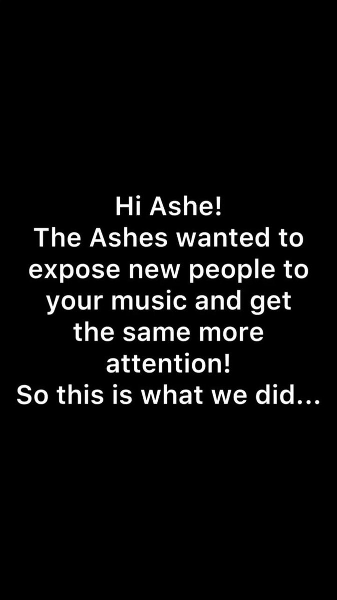 THIS IS YOUR DAILY REMINDER TO STREAM THE SAME!!! a few ashes wanted to do something to expose other people to ashe and her music - especially the same :)  @ashemusic