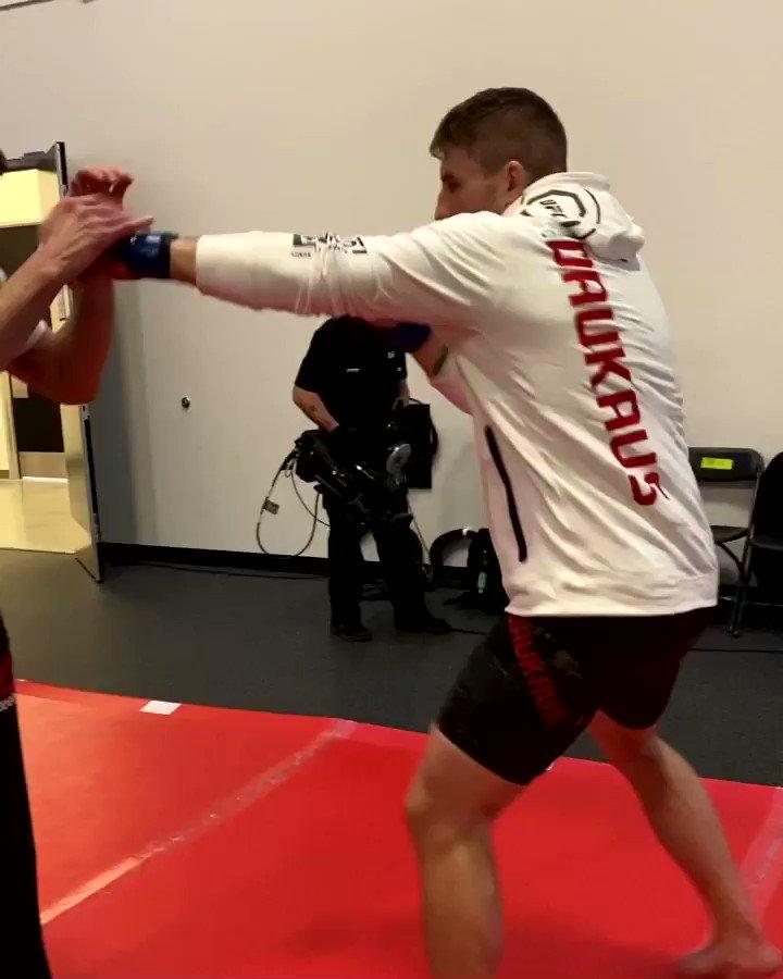 Oleinik vs Daukaus is LIVE NEXT on @espn+ #UFCVegas19