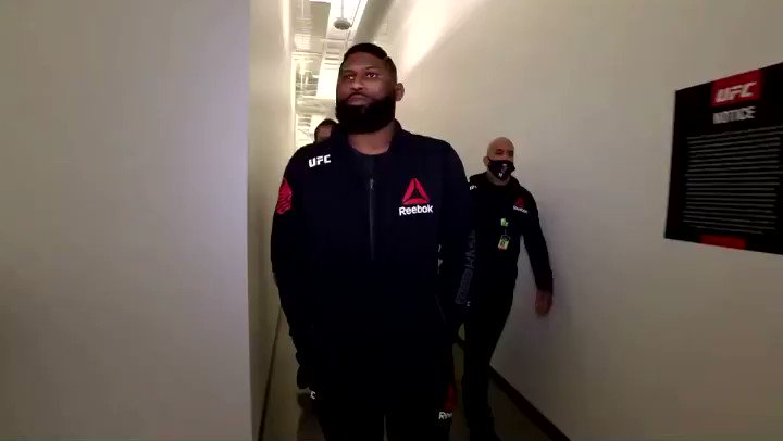 Blaydes has arrived to the APEX! #UFCVegas19 is LIVE NOW on @espn+