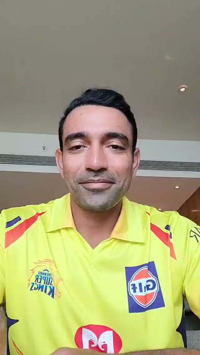 Welcome to the #ANBUDEN... @robbieuthappa 💛 #WhistlePodu