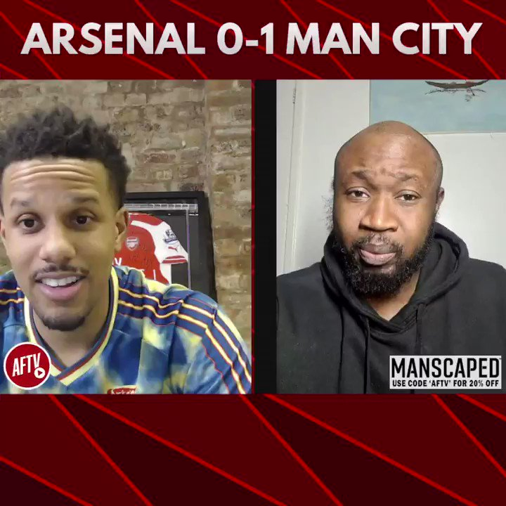 🗣 Arteta might as well get on the bus back to City! (@BigHomieStricto) 🔴 Arsenal 0-1 Man City 🔵 📺 youtu.be/Dh4YW8jgUb4 ➡️  AFTV Fancams are brought to you by @manscaped - Use the code 'AFTV' for 20% off your order and free shipping at manscaped.com! #ad