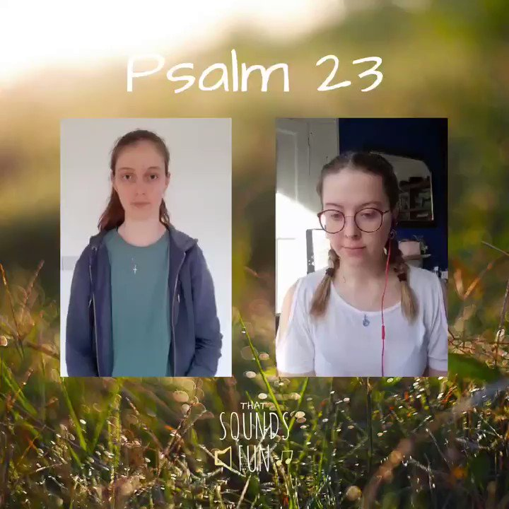 A lovely hymn for a moment of quiet and reflection before the week begins🌸  Thanks so much to the wonderful Jessie for joining us! 💕  #thatsoundsfun #psalm23 #thelordismyshepherd #sundayhymn #peaceofmind #momentofcalm #Reflection #grateful