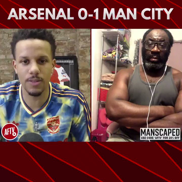 🗣 The most cowardly performance Ive seen from Arsenal! (@KennyKen1972) 🔴 Arsenal 0-1 Man City 🔵 📺 youtu.be/WW7GjpKmME4 ➡️  AFTV Fancams are brought to you by @manscaped - Use the code 'AFTV' for 20% off your order and free shipping at manscaped.com! #ad
