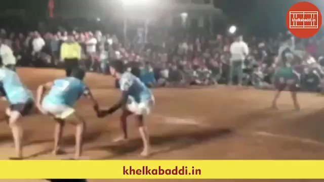 Dheeraj Khariwale got injured during the final match of Mumbai League. He came back on the field later and scored this super duper raid.. #khelkabaddi