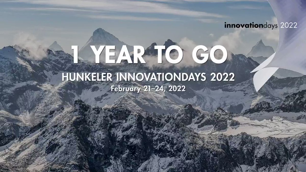 Image for the Tweet beginning: Hunkeler Innovationdays 2022 From February 21