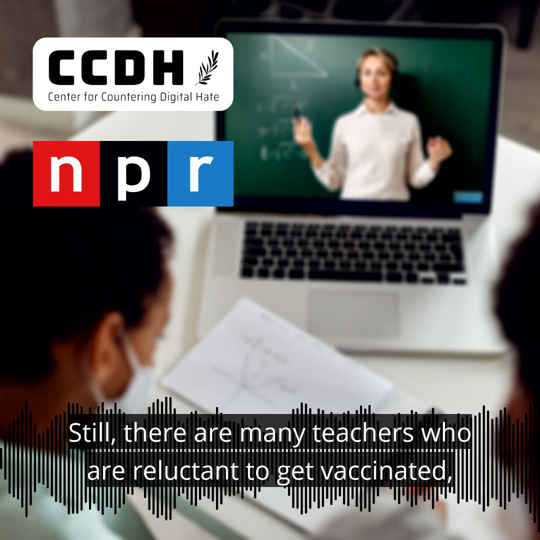 """""""They're preying on people who are scared and looking for answers""""  CEO @Imi_Ahmed spoke with @NPRWeekend @lourdesgnavarro about organised disinformation surrounding the COVID-19 vaccines."""