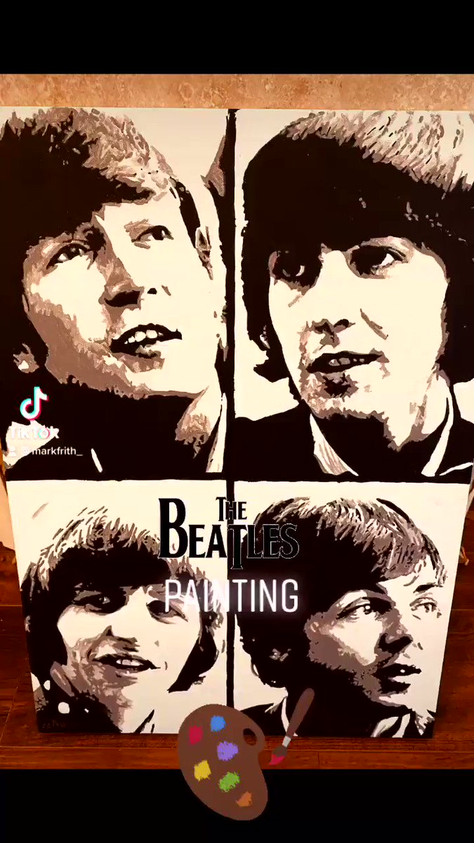 Replying to @MarkFrith_: #thebeatles painting 🎨🎸🎨🧑🎨