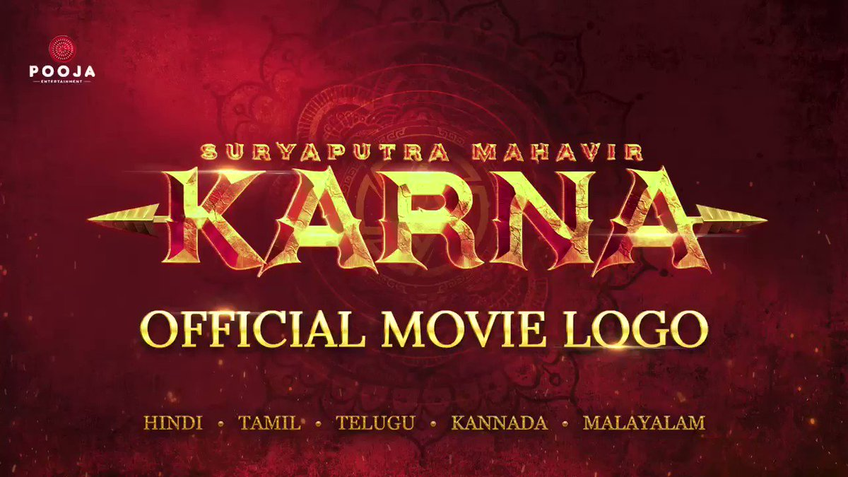 Growing up I've absorbed many life lessons from The Mahabharata. Privileged to be able to bring to life, one such story of the unsung warrior #SuryaputraMahavirKarna Sharing a glimpse of our most cherished project. Releasing in #Hindi #Tamil #Telugu #Kannada #Malayalam