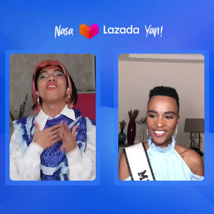 What are Lazadalagang Pilipina @mimiyuuuh and Miss Universe @zozitunzi up to? 🤔 Drop your guesses below! Here's a sneak peak of this one-of-a-kind Queen collab! 👑 Stay tuned via our Facebook page!💙 #NasaLazadaYan #LazadaPH #LazadaPHxMissUniverse