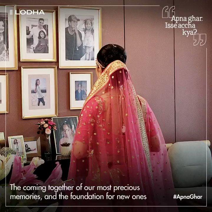 No matter where you go, #ApnaGhar will always be a treasured bouquet of memories. @akshaykumar  Know more:  #BuildingABetterLife #LodhaGroup #AkshayKumar