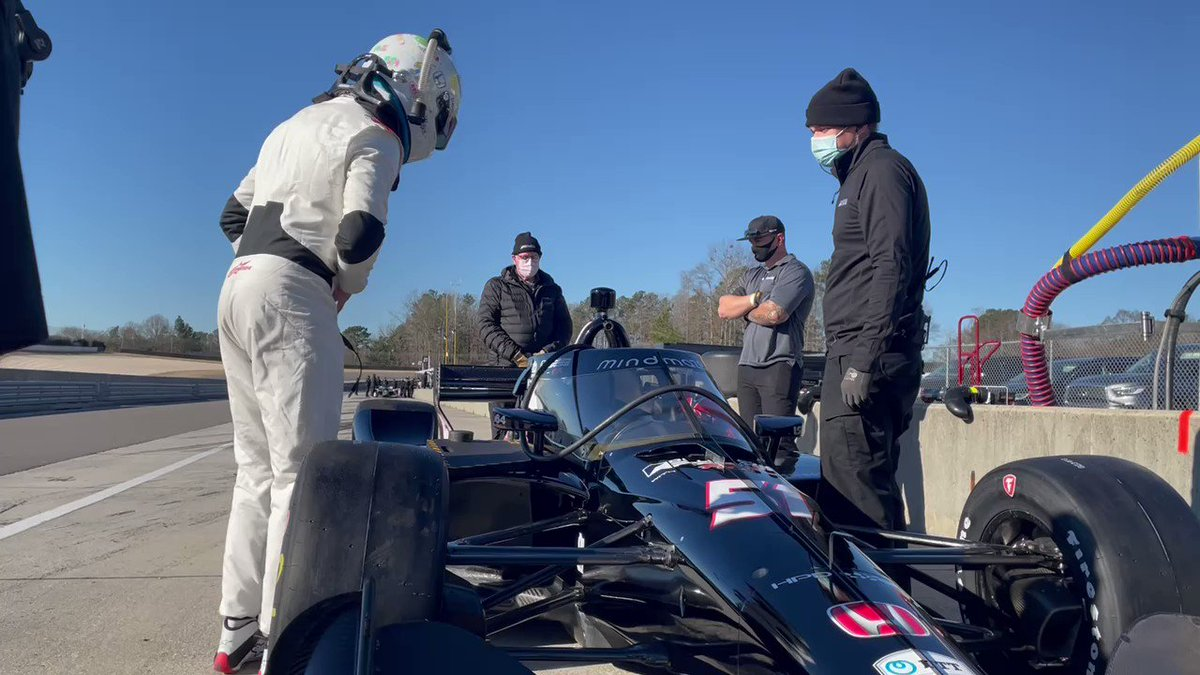 Just brilliant to see 👍  @RGrosjean getting back in a racing car   @DaleCoyneRacing  (🎥 @IndyCar)