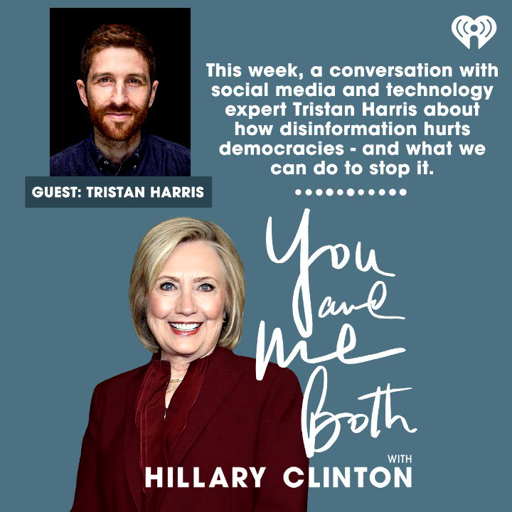 We can have democracy, or we can have tech companies with unbridled control of the information landscape. But we can't have both.  Don't miss my conversations with @tristanharris of @humanetech_ and @mariaressa of @Rapplerdotcom on You And Me Both.