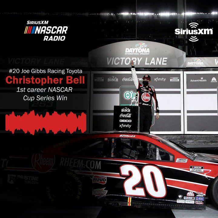 ICYMI: @CBellRacing joined @DGodfatherMoody to talk about his first career @NASCAR Cup Series win.   @JoeGibbsRacing   @ToyotaRacing