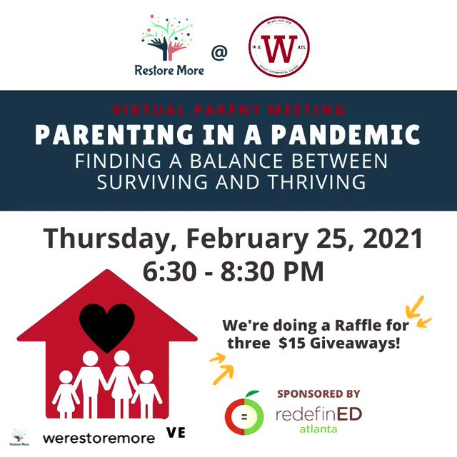 This Thursday! 🙏🏽 We're super excited about the first parent session with @wesleyacademyatlanta ! Parenting in a pandemic can be hard, but we're here to help 🙌🏽✨⁠#parentingtips #Adapt #work #affirmation #BelovedCommunity #edutwitter #Children #pandemic #COVID19  ⁠