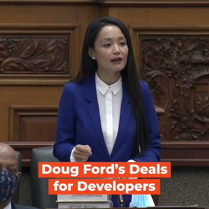 Doug Ford governs for developers, not for the people of Ontario.   Whether it's lining up backroom deals to demolish heritage buildings or to bulldoze protected lands for a unnecessary highway, Ford will do what he can to support his friends and donors first.