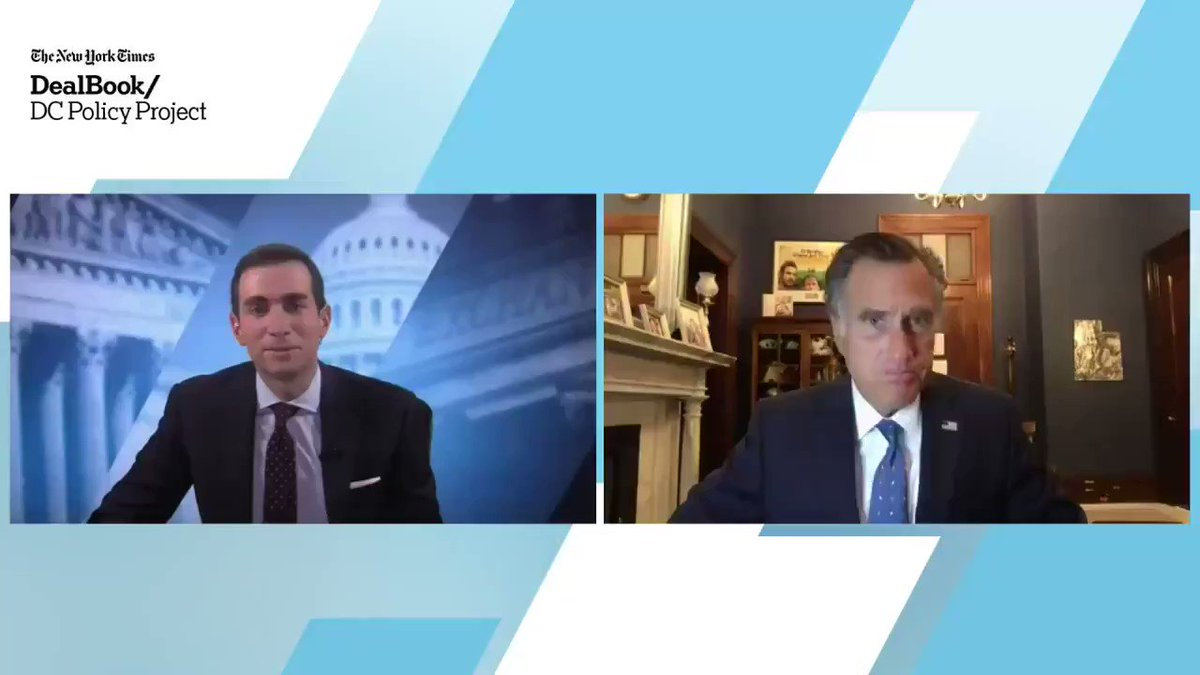 """On Donald Trump, Senator Mitt Romney at the DealBook DC Policy Project said: """"I don't know if he'll run in 2024 or not, but if he does I'm pretty sure he will win the nomination."""" #DealBookDC https://t.co/6DwHoTjTre dealbook https://t.co/RAwScT7eT6"""