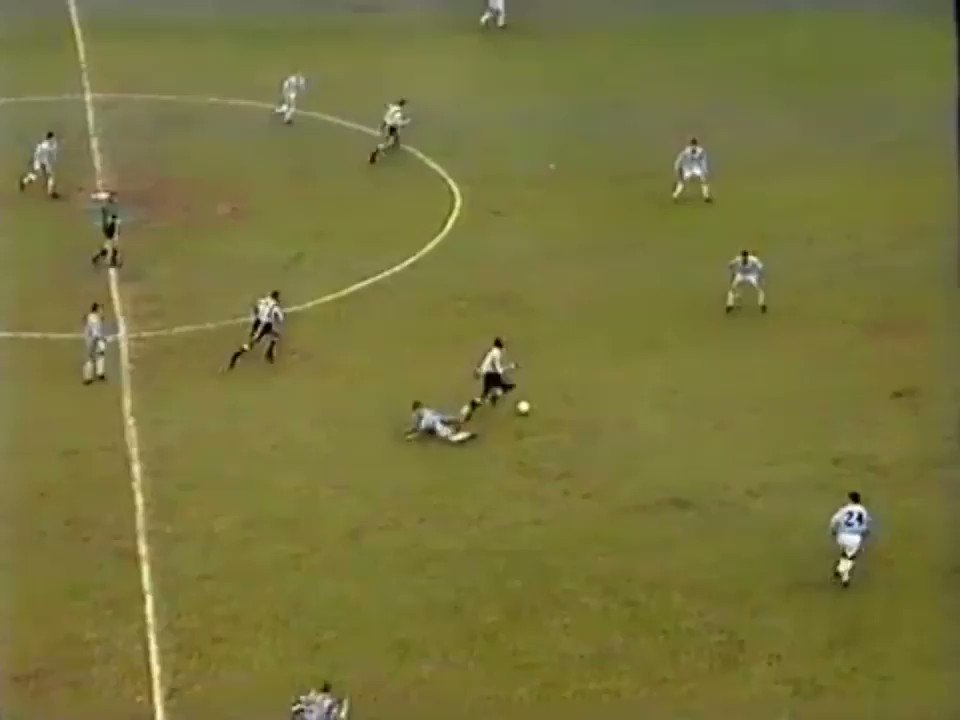 Only thing Tino did wrong was not following up with a straight left! Tino a brilliant player being grappled by Keith Curle. Beat him at that too.  Was at this game.