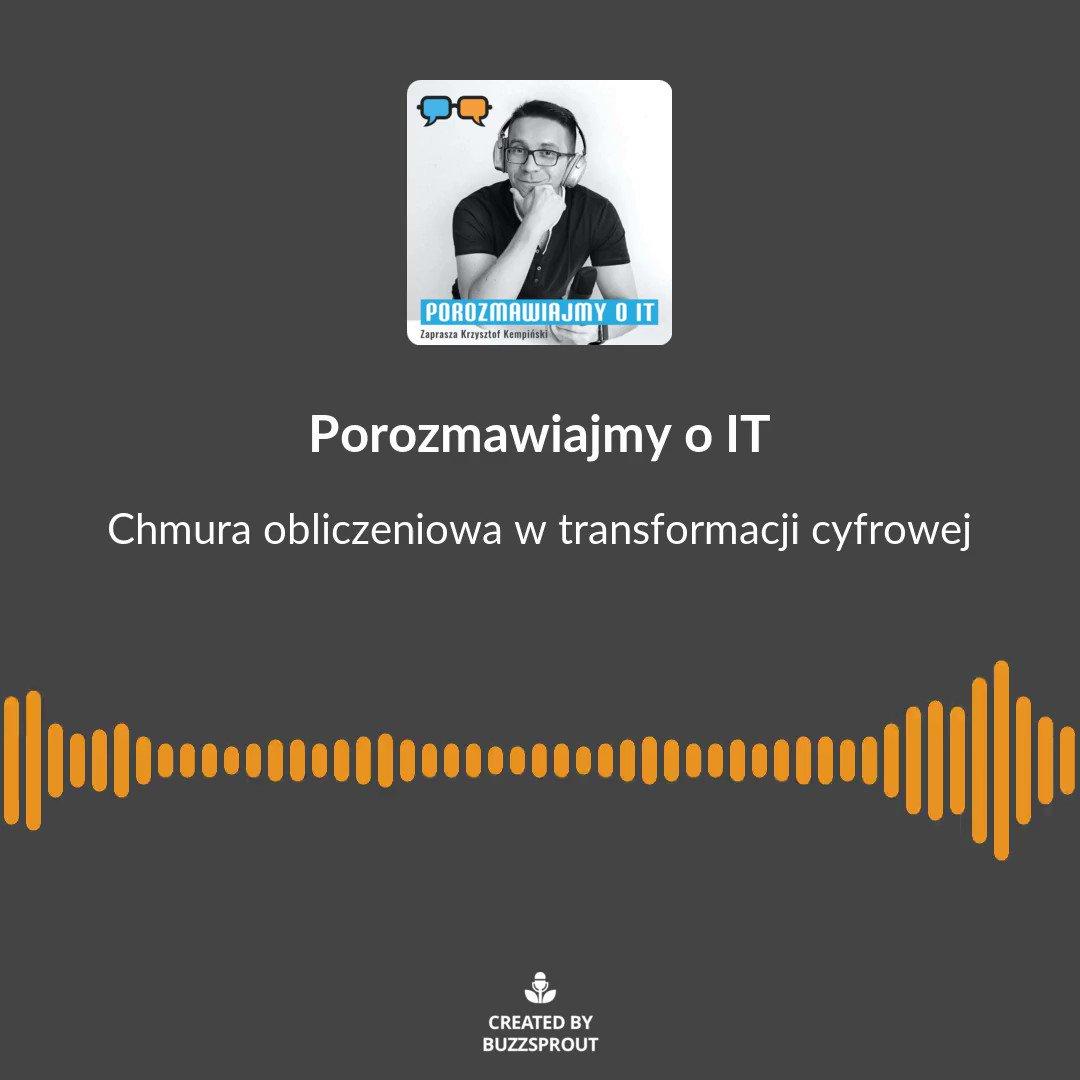 👉To jest zajawka #podcast'u o roli chmury obliczeniowej w transformacji cyfrowej.  🗣 Rozmowa z Maciejem Kalisiakiem z @HPE_PL.