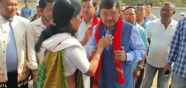 Im happy to inaugurate the Open Cultural Hall Building at Doloni Teron Arong under Rongkhang Constituency. With @horensingbey, Honble MP, EM Mongol Sing Timung, Darsing Ronghang, MAC and Board Chairman, et al.