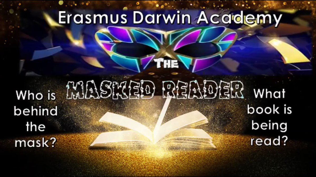 Wow! Which teacher could this be? Whose that behind the mask? #maskedreader #weareEDA #WorldBookDay