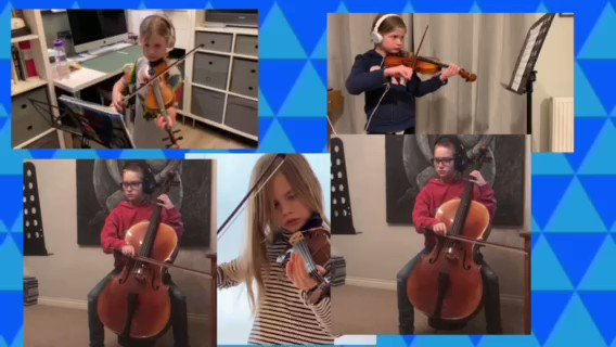 Image for the Tweet beginning: Our fabulous young string players
