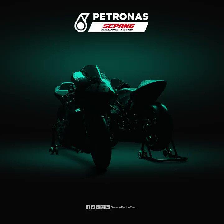 Monday, 01 March 2021 💚🖤👀   Get your first look at the new @sepangracing MotoGP machine!  📺 @PET_Motorsports Sepang Racing Team YouTube