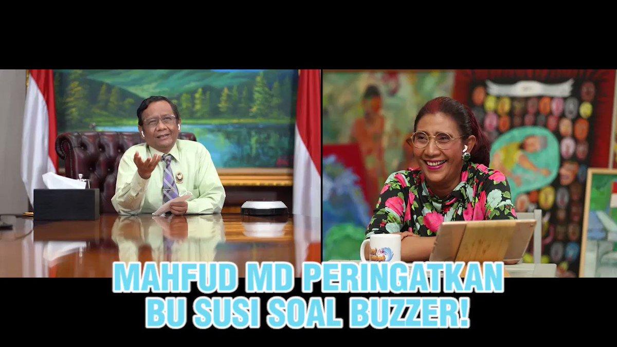 Pak @mohmahfudmd peringatkan Ibu @susipudjiastuti soal buzzer!😱  Jangan sampai ketinggalan #SusiCekOmbak malam ini pukul 20.05 WIB di @Metro_TV yaa.