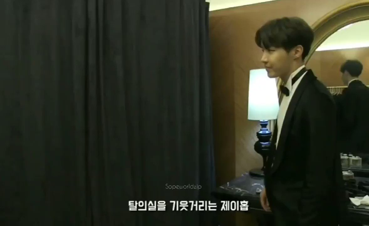 No but hobi really saw a closed fitting room with yoongi in it but decided to pop his head in anyway
