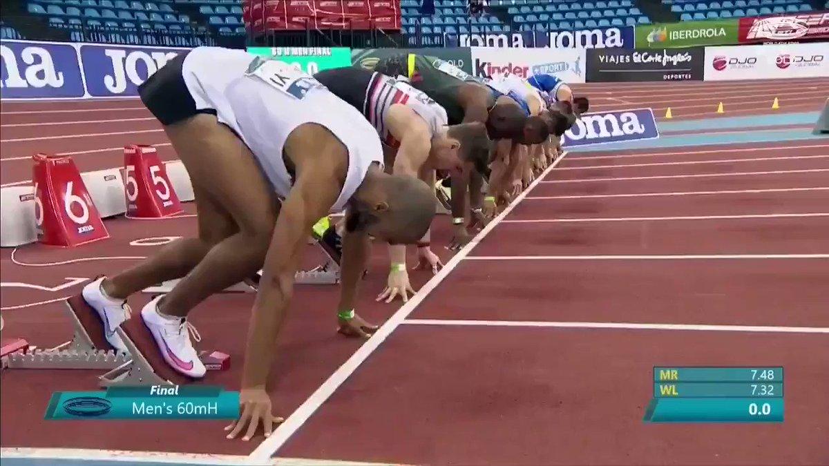 ABD'li atlet Grant Holloway, 60 metre engellide dünya rekorunun yeni sahibi oldu. 7.29'luk derecesiyle adeta ıçtu‼️