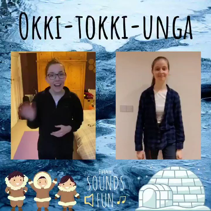 This song tells the story of an Inuit boy who goes on a seal hunt to win a bride, could you tell from the actions?? ❄️🦭  #thatsoundsfun #inuit #okkitokkiunga