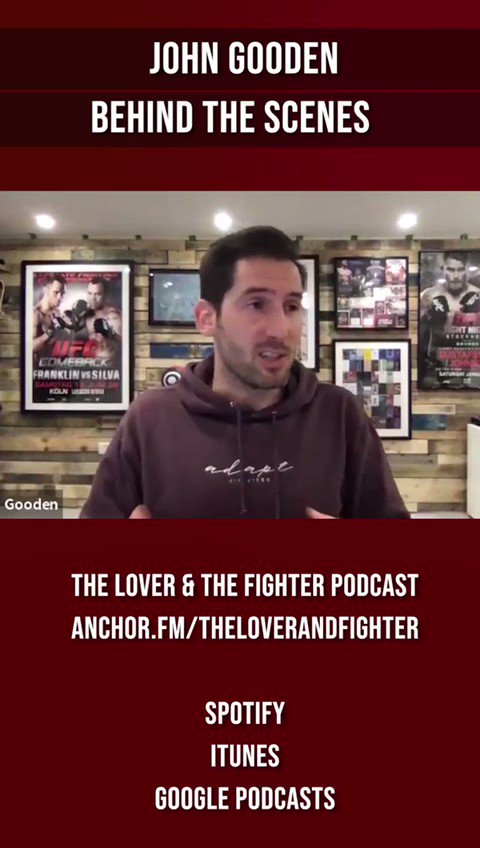 Did you know @JohnGoodenUK is also a producer? I had a great time learning about all of the different hats a ufc commentator might wear on this week's episode of The Lover and The Fighter!    #mma #ufc #commentary #production #media