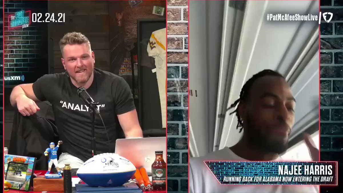 LOADED @PatMcAfeeShow 2.0 pod  ▫️@ohthatsNajee22 breaks down the process heading into the draft ▫️@MarkMaddenX dives into Big Ben being back for another year with the Steelers  ▫️Pat & @OfficialAJHawk chat with Eddie Olczyk about all things NHL