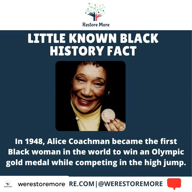 Happy Black History Month! 🌟 This month we're bring you daily little known fast facts about influential black history! 🙌🏽 Did you know this? 👀 Let us know! ✨  #BlackHistoryMonth #BlackLivesMatter #Olympics #BHM #woman #black #achieve