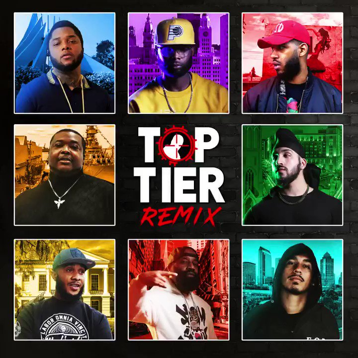 Top Tier Remix coming soon! @Eazyblockcapt @GeechiGotti @BDotTheGod @Sharkcity_Ave @RealSikh99 @swamp843 and @EverythingLoso 🔥 Cover by me.