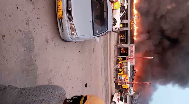 FIRE … Shoprite Katima Mulilo shopping complex burned down to ashes this morning. The fire allegedly started around 04h00 and the cause is still unknown. The Katima Mulilo Town Council firefighters are still at work trying to contain the fire. Video: Contributed