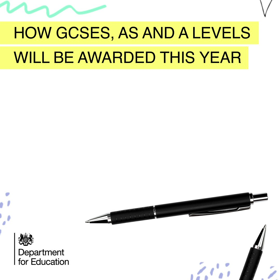 Today we're announcing how students will be assessed and awarded their GCSE, AS and A levels this year.  Fairness and flexibility are at the heart of the plans, which will enable young people get to their next stage of education or training.