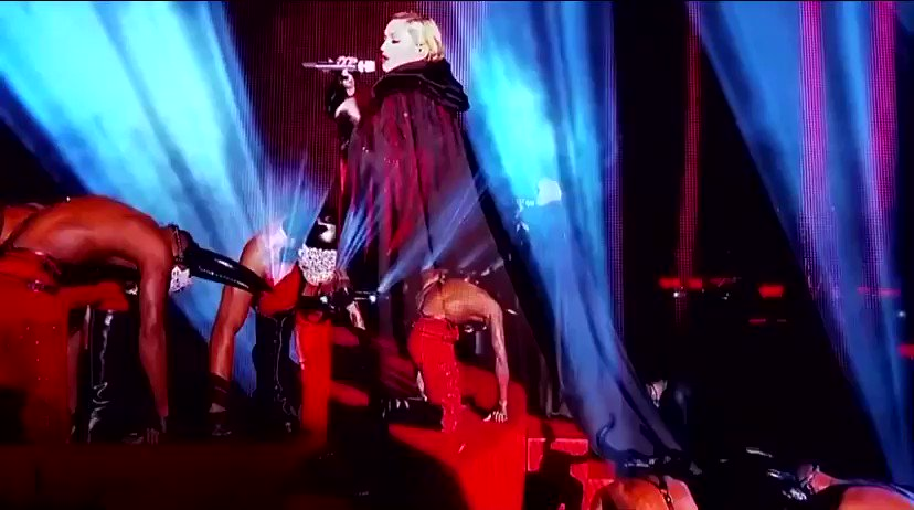 ON THIS DAY SIX YEARS AGO: Madonna's infamous cape fall during her televised Brit Awards performance
