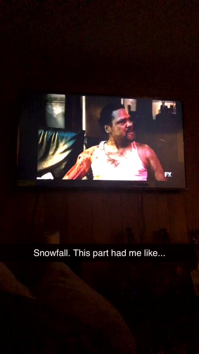 Dead ass tho lol #SnowfallFX