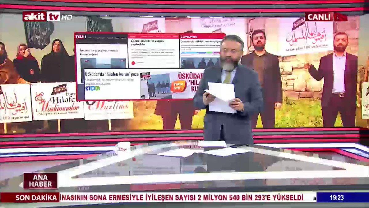 Afyon, İstanbul ve Bilecikte İslam'ın yönetim nizamı Hilafet ile ilgili video çektikleri için zulme uğrayan Müslümanlar Akit TV ana haberde.  #MüslümanBacılarGözaltında #YargıZulmüneDurDe