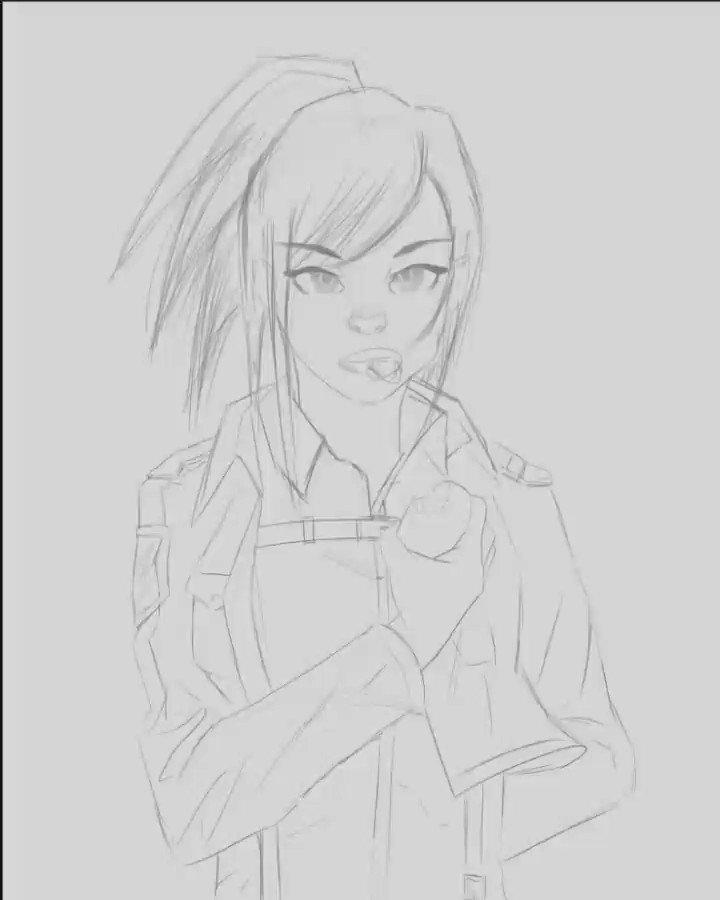 Sasha Braus Process #snk #attackontitan #mikasaackerman #sasha  #sashageyo  #attackontitanart #shingekinokyojin #進撃の巨人 #sashabraus #attackontitanseason4 #digitalart #painting #conceptart #huon  #stylisedart #draw #drawings #sketch