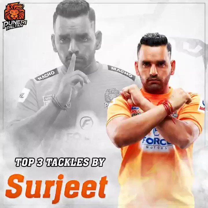 Which tackle is the best from the video? . . #PuneriPaltan #BhaariPaltan #GheunTak #Kabaddi #Defender #Tackle #surjeetnarwal