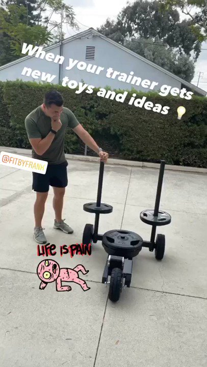 New toys and new ideas! 🤔 @brandenbrent #fit #conditioning