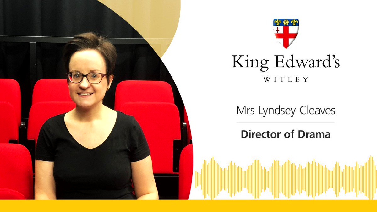 """In our drama studios and classrooms, we are not bound by desks & chairs, so we work really practically as if we were a group of actors in a rehearsal studio"". Hear the full interview with our Director of Drama, Mrs Lyndsey Cleaves, below #ThinkingDifferently @keswdrama"