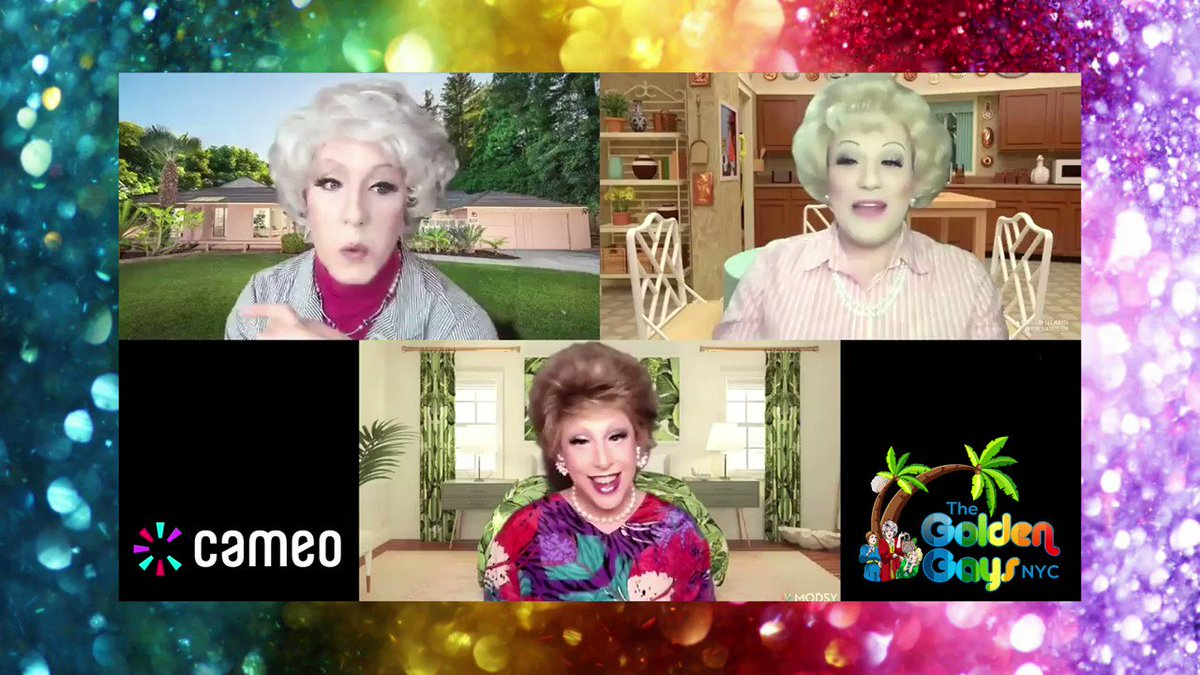 """Professionality is always on the menu 😁 - 5 stars from Jane, """"The PERFECT gift for #GoldenGirls fans in your life!"""" 🎁 - Book your own cameo today, by visiting our linktree!  #goldengirlsforever #goldengirlsnyc #goldengirlsclub #goldengirlsdrag #goldengirlstanning #BettyWhite"""