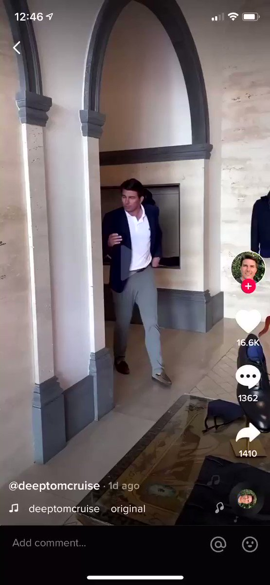See this video of Tom Cruise?  Well, it's not Tom Cruise.  It's AI generated synthetic media that portrays Tom Cruise onto a TikTok user using Deepfakes.  Seeing is no longer believing.