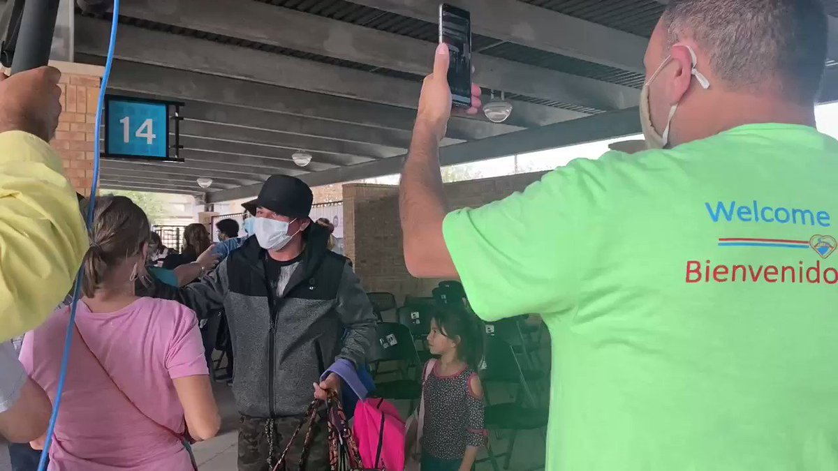 Historic moment: After over a year waiting in some of the most inhumane and dangerous conditions, the first group of MPP holders stranded in Matamoros finally steps onto U.S soil