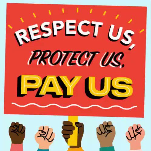Image for the Tweet beginning: Respect Us, Protect Us, Pay
