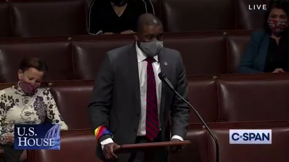""".@RepMondaire, one of the first openly LGBTQ Black members of Congress, supports the #EqualityAct on the House floor:  """"To grow up poor, Black and gay is to not see yourself anywhere. It is also to feel completely unseen as so many people around invalidate your very existence."""""""